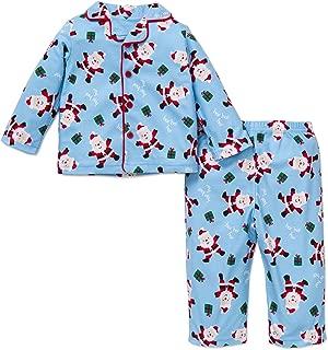 Little Me Holiday 2 Piece Fleece Pajama Set, 2t (Santa Boy)