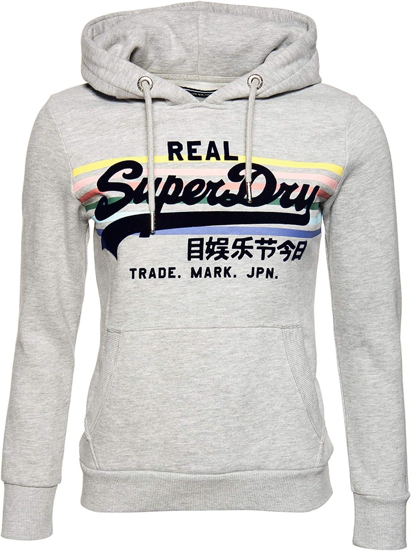 Superdry Vintage Logo Rainbow Stripe Hoodie