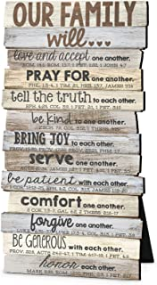 Lighthouse Christian Products Our Family Will Love One Another Rustic Stacked Pallet 5 x..