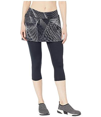 Skirt Sports Lotta Breeze Capri (Galactic Print/Black) Women