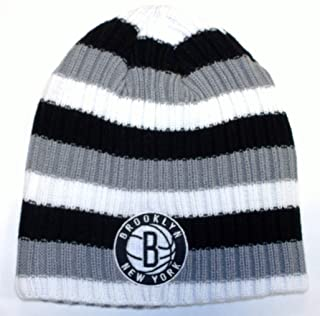 NBA Brooklyn Nets Cuffless Adidas Knit Hat - Osfa - KK90Z
