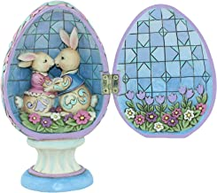 Jim Shore HWC by Enesco Hinged Egg with Bunnies Inside