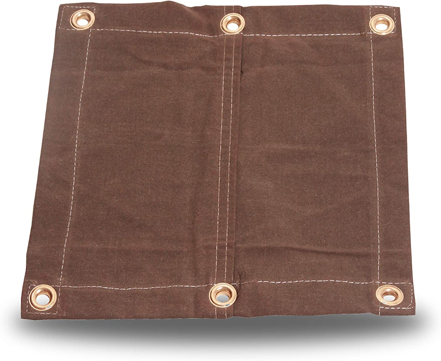 6X10 18oz supreme Heavy Duty Canvas Tarp - Brown Grommets R with Water Outlet SALE