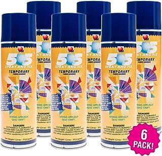 Odif 99944 USA 505 Spray & Fix Temporary Fabric Adhesive 6/Pk-12.4oz, 6 Pack