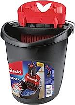 Vileda 4023103201415Ultramax Power Plastic Bucket and Press 157648, Black and Red, 37x 28x 28cm