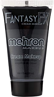 Mehron Makeup Fantasy F/X Water Based Face & Body Paint (1 Fl Oz) (BLACK)