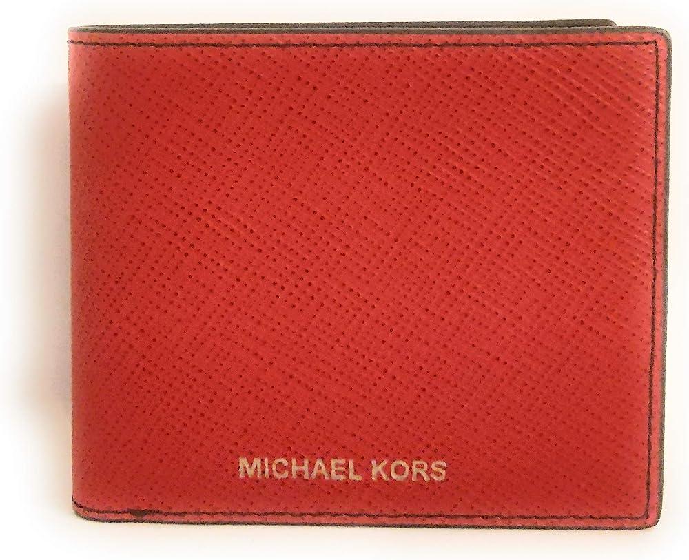 Michael kors portafoglio in pelle da uomo porta carte di credito