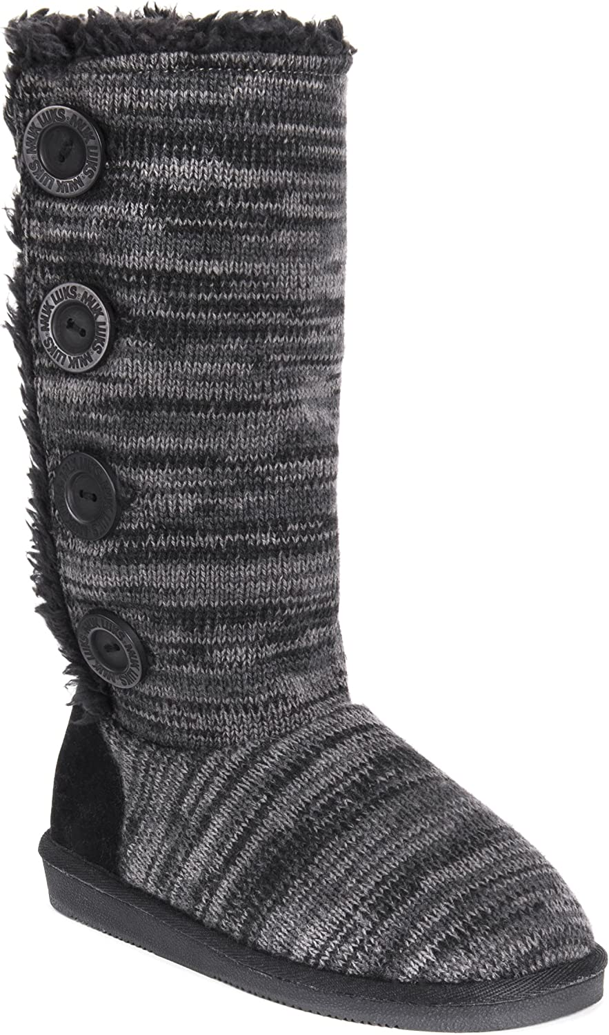 MUK LUKS Womens Women's Liza Boots-Black Fashion Boot