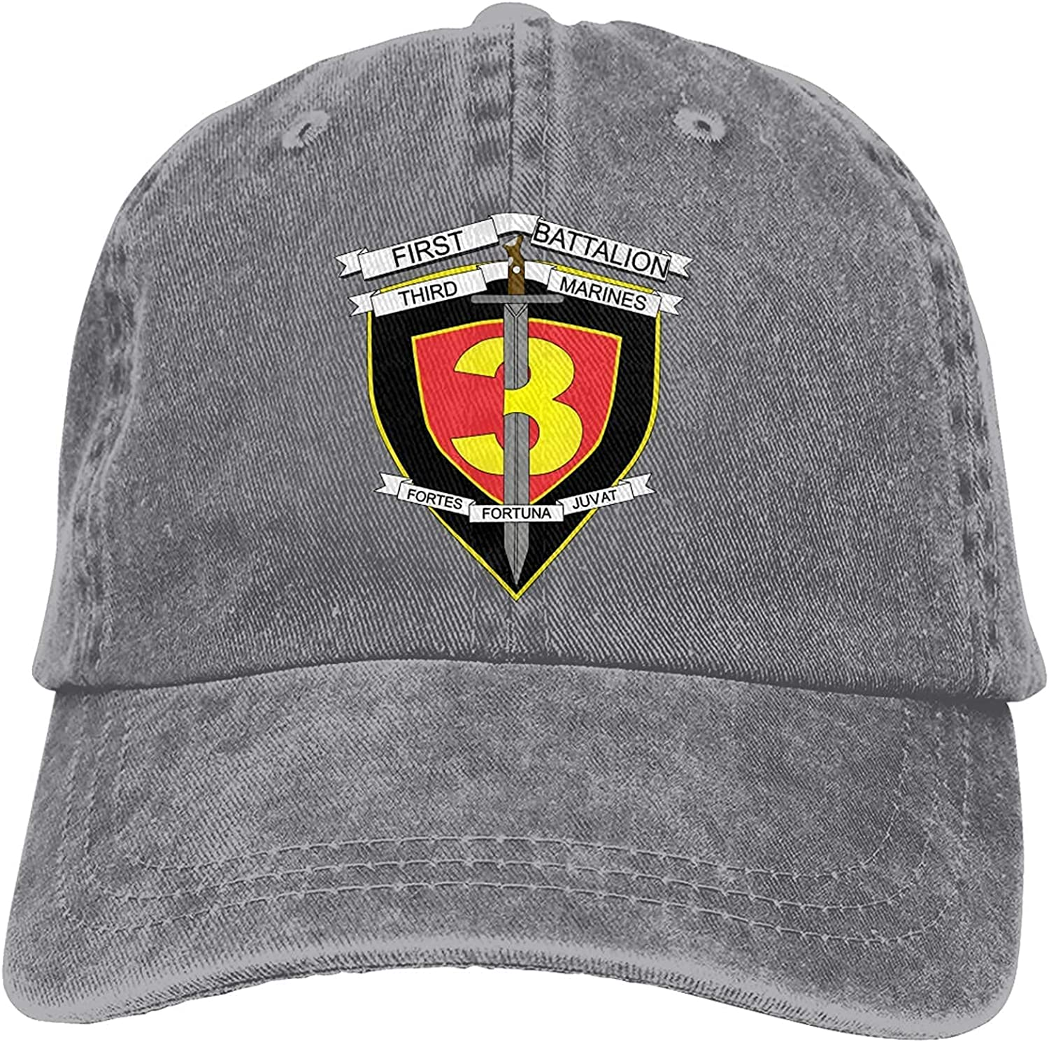 BGWORZD 3rd Battalion 7th Marines Decal Outdoor Men's Baseball Cap Sports and Leisure Adjustable Cowboy Hat Performance Cap Navy