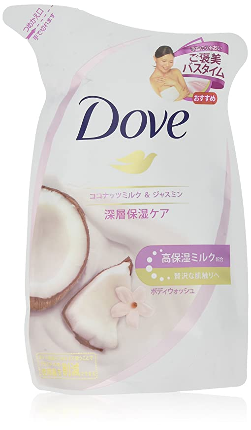 ティッシュメカニック踏み台Dove ダヴ ボディウォッシュ ココナッツミルク & ジャスミン つめかえ用 340g×4個