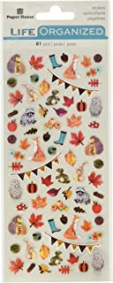 Paper House Productions STM-0005 Autumn Woods Micro Stickers, 3-pack,
