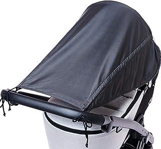 Unsere Design-Empfehlung Universal Sonnensegel für Kinderwagen mit Seitenschutz/UV Schutz 50/ Sonnenverdeck für Kinderwagen/Sonnendach/Sonnenrollo/Sonnenschutz für Babys/Farbe: Anthrazit
