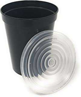 10 Pack Clear Snap-On Lids For 16 & 22 oz Stadium Cups Sold By CSBD - Bulk - Reusable or Disposable - BPA Free (Clear, 10)
