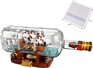 LEGO Ideas 21313 Ship in a Bottle 92177 Expert Building Kit, Snap Together Model Ship, Collectible Display Set and Family ...