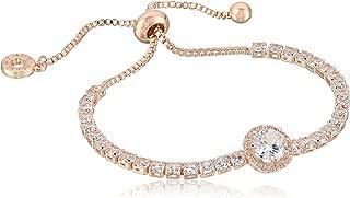 Classics Rose Gold Pave Center Stone Slider Bracelet, One Size