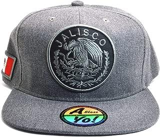 AblessYo Mexican hat Mexico Flag Charcoal Grey Snapback Baseball Cap Flat AYO6051