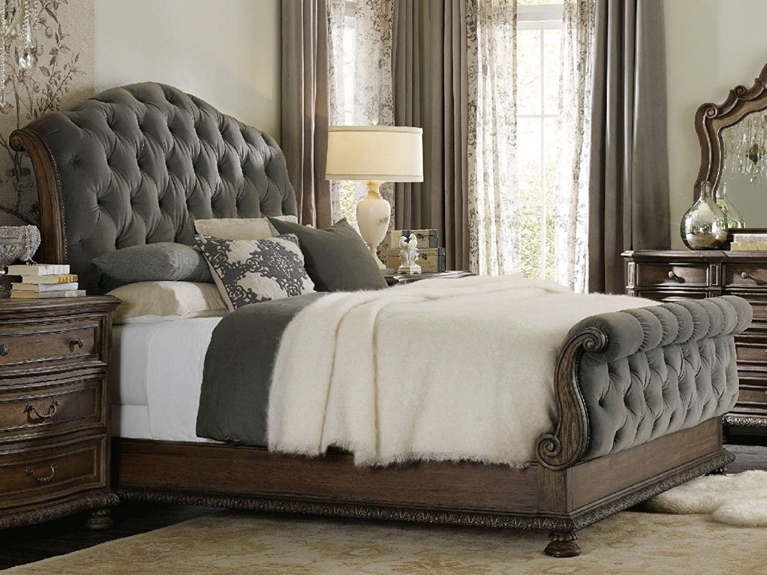 Hooker Furniture Rhapsody Tufted King Our Max 63% OFF shop OFFers the best service Bed Gray in Fog