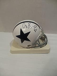Dez Bryant Signed Dallas Cowboys Autographed Riddell Mini Helmet Certified Authentic Autograph