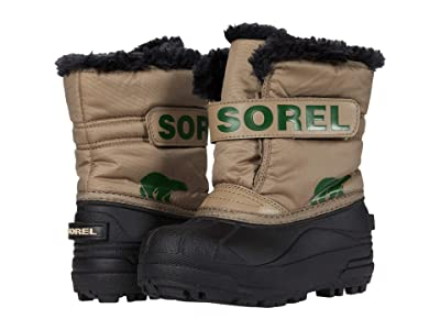 SOREL Kids Snow Commandertm (Toddler/Little Kid) (Khaki II) Kids Shoes