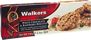 Walkers White Chocolate and Raspberry Biscuits (Pack of 4), 150g
