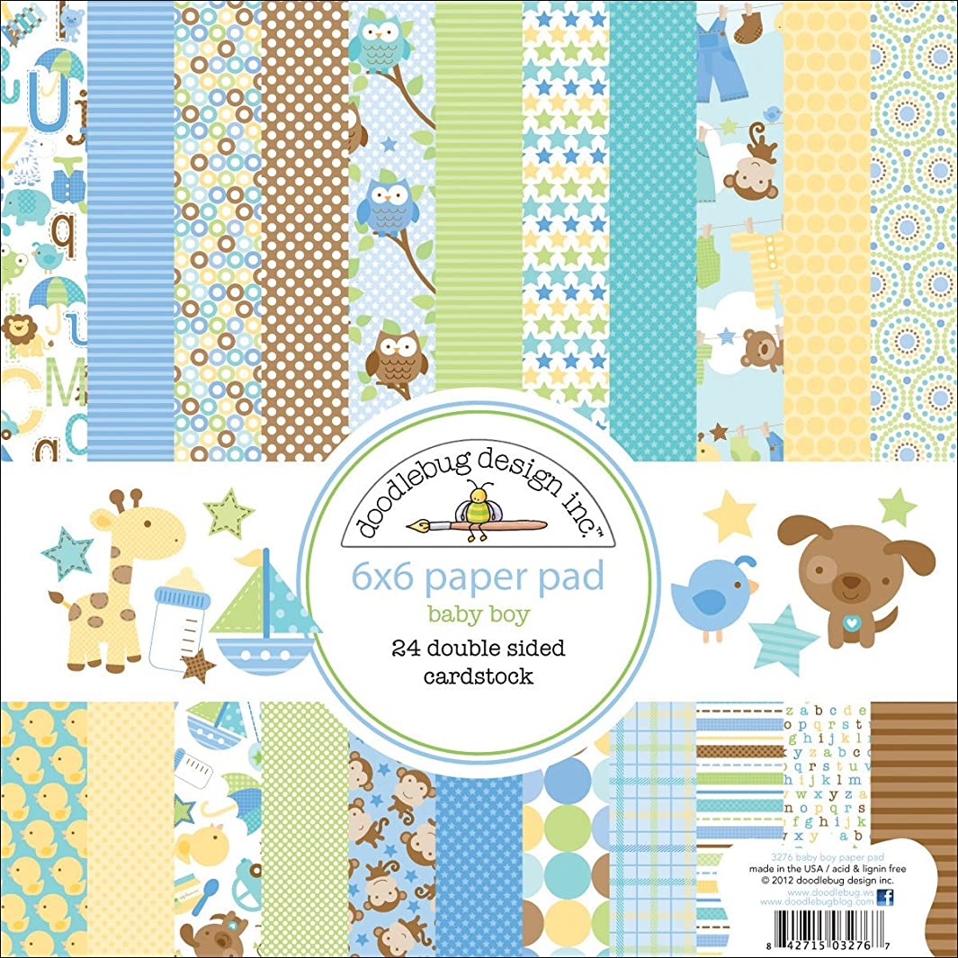 DOODLEBUG Snips and Snails Paper Pad, 6 by 6-Inch c945381261