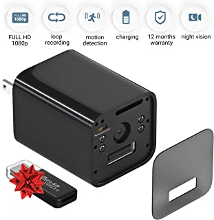 Spy Camera Charger - Hidden Camera - Mini Spy Camera 1080p - USB Charger Camera - Hidden Spy Camera - Hidden Nanny Cam - Hidden Spy Cam - Hidden Cam - Surveillance Camera Full HD - with Out WiFi
