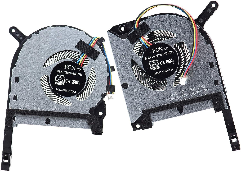wangch Nuevo Ventilador de refrigeración de CPU DFS5K12304363H FMLB con Ventilador de GPU DFS5K12114262H FMC9 para ASUS TUF Gaming Laptop FA506 FX506 FX506LU FA706 FX706 FX505 FX705