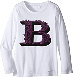 Burberry Kids - Graphic Long Sleeve Top (Little Kids/Big Kids)