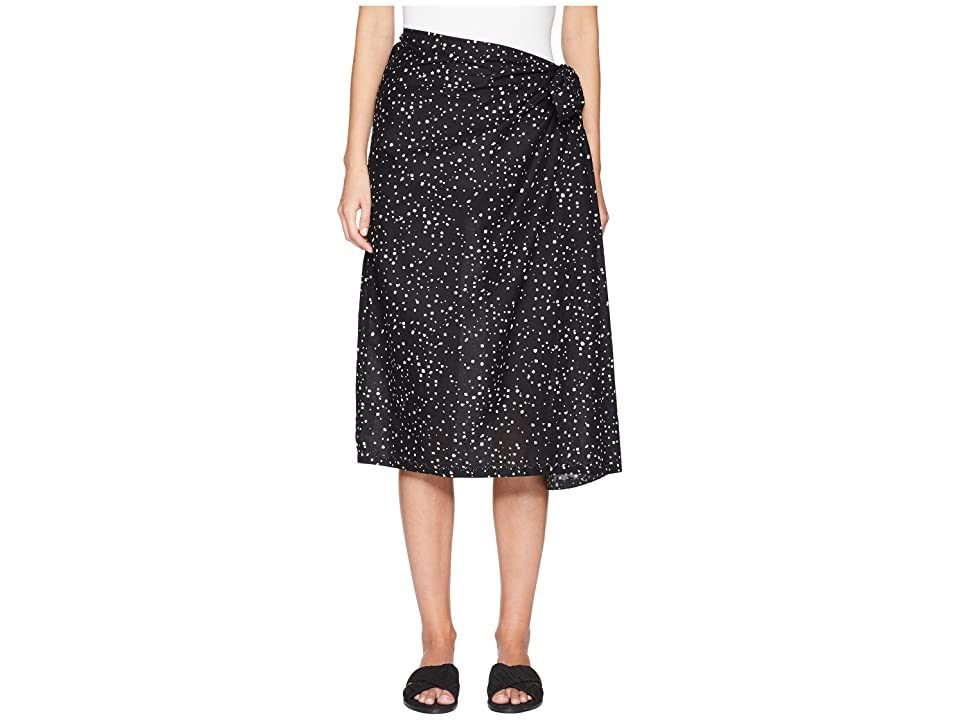 Eileen Fisher Faux K/L Skirt (Black) Women's Skirt