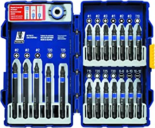 IRWIN Tools IMPACT Performance Series Fastener Power Bits, 20-Piece Set with Pro Case and Magnetic Screw-Hold Attachment (1903766)