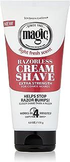 Razorless Shaving Cream for Men by SoftSheen-Carson Magic, Hair Removal Cream, Extra Strength for Coarse Beards, No Razor ...
