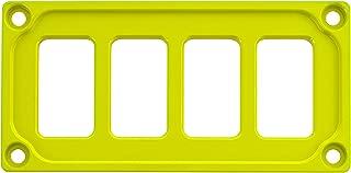 STV MOTORSPORTS Universal Switch Dash Panel Custom CNC Billet Aluminum 4 Rocker Switch Slots (Lime Squeeze)