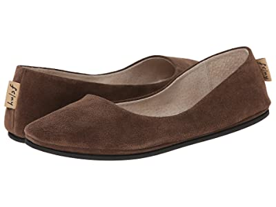 French Sole Sloop Flat (Chocolate Suede) Women