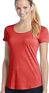 تي شيرت رياضي للنساء من جوكي برقبة مستديرة Brilliant Red Heather Large