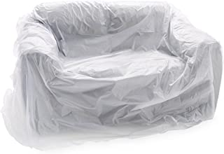 "haggiy Couch Cover for Storage, Plastic Furniture Cover for Renovation, Moving, and Long-Term Storage, Furniture Bag for Moving and Storage - Color Clear - (142"" x 55"")"