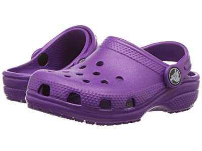 Crocs Kids Classic Clog (Toddler/Little Kid) (Amethyst) Kids Shoes