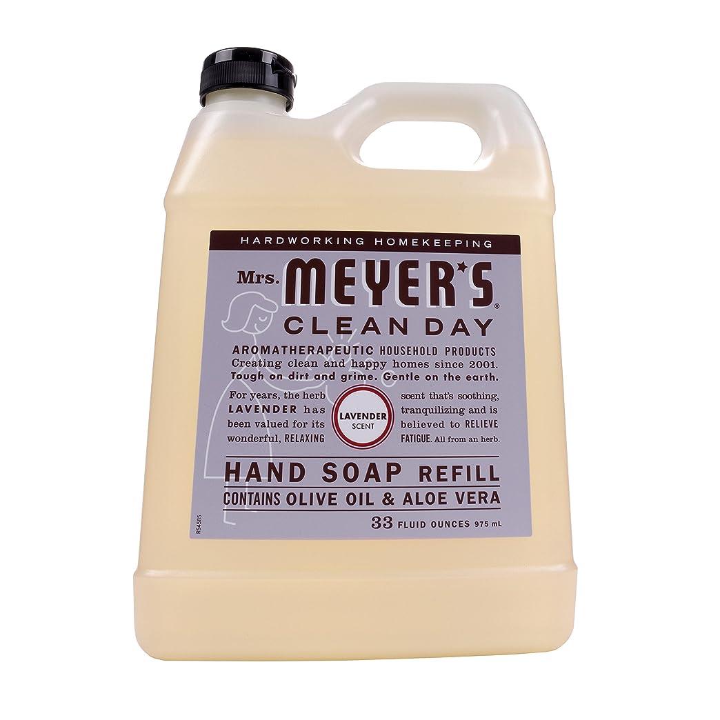 遠洋の出身地必要性Mrs. Meyers Clean Day, Liquid Hand Soap Refill, Lavender Scent, 33 fl oz (975 ml)