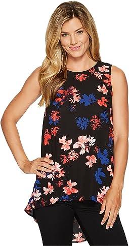 Sleeveless Ballard Floral High-Low Hem Blouse