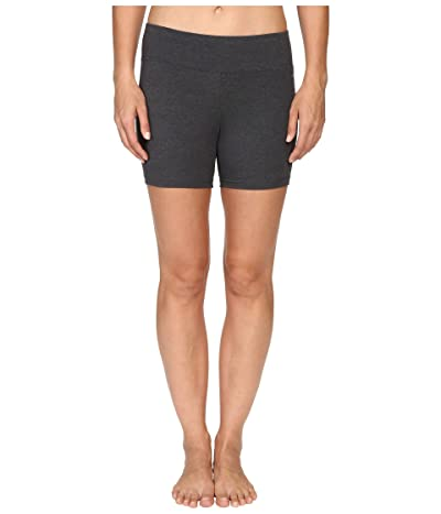 Jockey Active Bike Short w/ Wide Waistband (Charcoal) Women