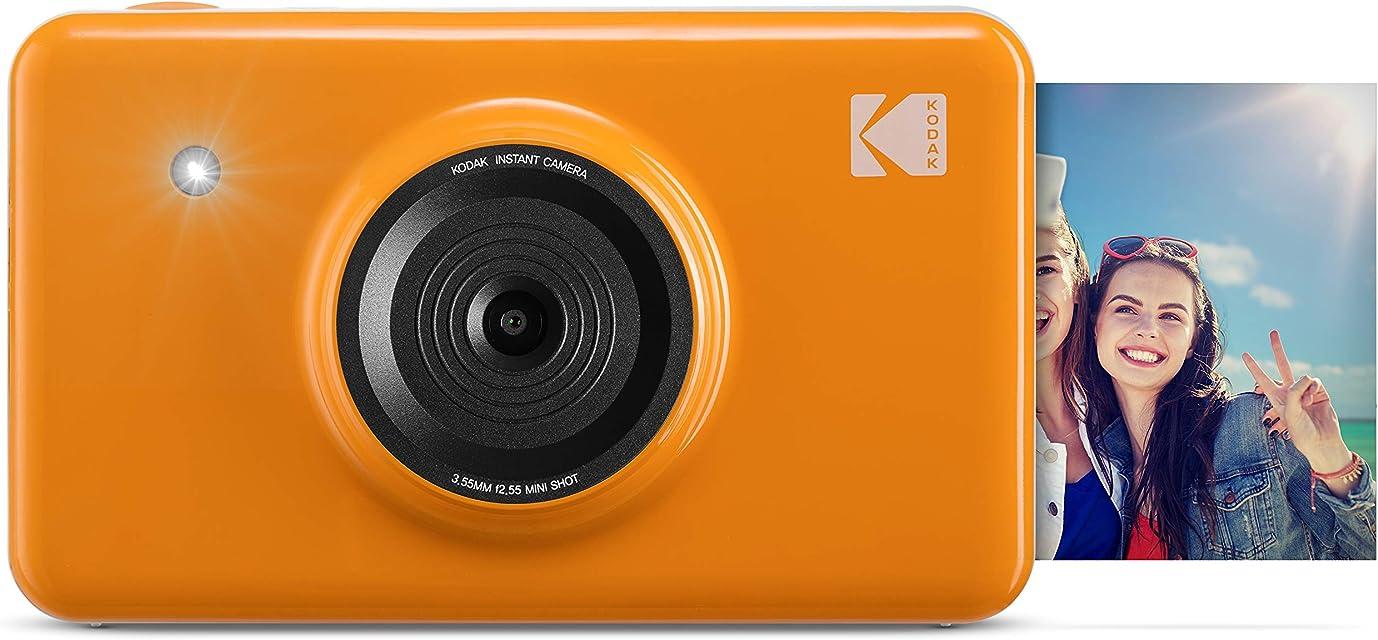 Kodak Mini Shot - Impresiones inalámbricas de 5 x 7.6 cm con 4 Pass tecnología de impresión patentada cámara digital de impresión instantánea 2 en 1 amarillo