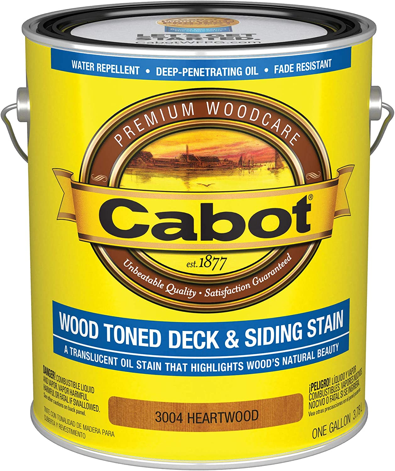 Cabot 3004 service Wood Toned Free shipping Deck Siding 1 Oil Stain G Oxide Formula