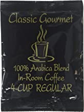 Classic Gourmet DeCafe 4 Cup Coffee Filterpack for Hotels and Motels- Case of 200