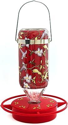 Hummers Galore, Hummingbird Feeder, Hanging Vine Design, Glass, 32 Oz