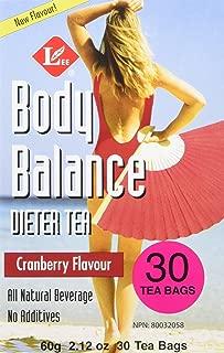 Uncle Lee's Tea Body Balance Dieters Tea Cranberry, 30 Tea Bags, 60g