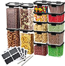 Plastic Storage Containers – for Pantry Organisation and Storage   HyperLock Airtight Vacuum Seal Locks in Freshness, Pres...