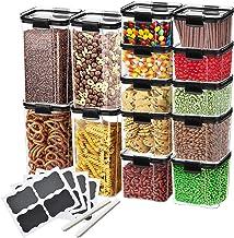Plastic Storage Bins – for Pantry Organisation and Storage | HyperLock Airtight Vacuum Seal Locks in Freshness, Preserving...