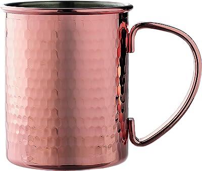 前畑(Maebata) マグカップ ブロンドなど 約径8.0×最大幅12.3×高9.7cm 珈琲屋さんのアイスコーヒーメタルマグ(1個)