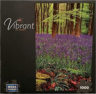 VIBRANT 1000 PIECE PUZZLE VIEW THROUGH THE WOODS by Mega Puzzles