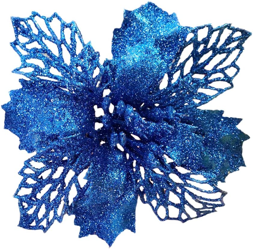 Blue New Glitter Artificial Po Wedding Flowers Discount mail Louisville-Jefferson County Mall order Christmas