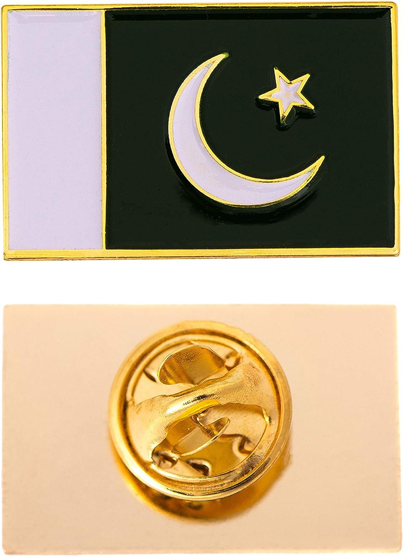 Pakistan Country Flag Lapel Enamel Made of Metal Souvenir Hat Men Women Patriotic (Rectangle Pin)